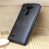 Black Flip Leather Case Cover + Film for LG Optimus G3 D850 D855 LS990 e