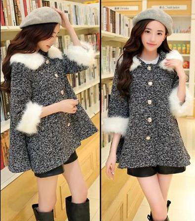 Женская одежда из шерсти Women overcoat LY1631 2014 coat