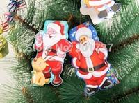 20pcs/lots Christmas greeting card Snowman Santa Claus Cute folded  -free shipping