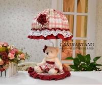 Free shipping  individuality bedroom sweet cartoon bear cloth art adornment lamp