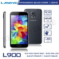 Original LANDVO L900 Android Phones MTK6582M Quad Core Mobile Phone 1G RAM 4G ROM 5MP Camera 8.4mm Super Slim Cell Phones