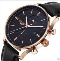 GUANQIN Men's multifunction watch strap luminous waterproof quartz watch fashion watch men watch business guanqin