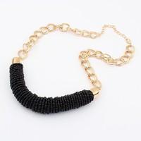 Min. Order $8.8(Mix Orders) 2014 New Hot Sale European&American Women Fashion Bohemia Handmade Multicolor Bead Necklace FN0222