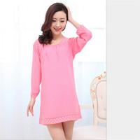 Chemise Lingerie Women Strap Sleepshirts Cotton Pyjamas Nightgown Embellished Original Magicdream Authentic Brand YP1203620