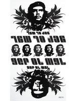 Free Shipping DIY Ernesto Guevara Temporary Tattoos Men 4pcs/lot Body Waterproof El Che Taty Fake Tatoos Stickers Sex Products