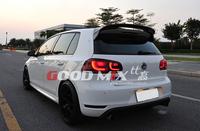 Volkswagen VW Golf MK6 GTI GT-Wing Style Carbon Fiber Rear Roof Spoiler Rear Wing