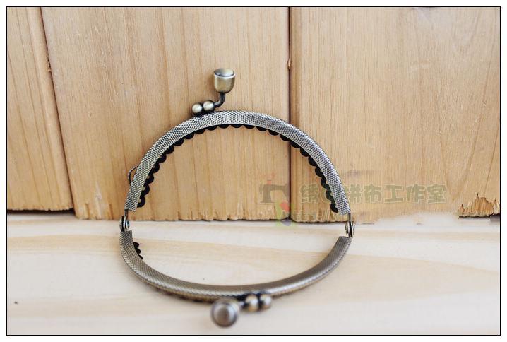 10pieces/lot ,8.5cm Semi-circle shape Metal Purse Frame Handle for Bag Sewing Craft,Cute Coin Purse Frames,metal head(China (Mainland))