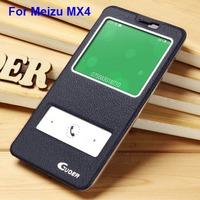 Meizu MX4 case,Guoer open-windows series flip PU leather back cover case for Meizu MX3 screen protector+retail package