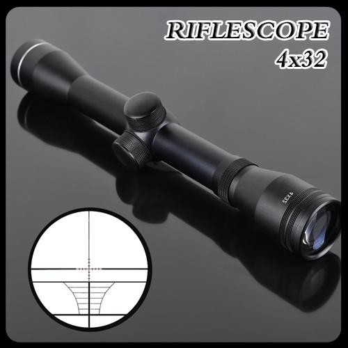 Outdoor Caça LLL Night Vision Scopes SNIPER à prova de choque OTelescopic Visão Mira Reflex Gunsight Riflescope 4x32(China (Mainland))