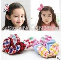 Three-dimensional rabbit ear hair accessories Children's hair accessories Tire baby children's hair clips cotton fablic hairpins
