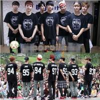 BTS bulletproof Corps Bangtan BoysSUGA JIMIN JIN V tshirt with short sleeve T-shirt G Men kpop bts