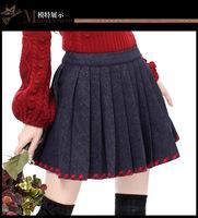 2014 Autumn Vintage plaid patchwork pleated skirt,women's short skirts womens