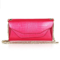 leather wallet female long section of Europe and the United States women's embossed Wallet Chain single shoulder bag bag