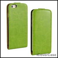 Crazy Horse Leather Case for iPhone 6 Plus 5.5 Flip Cover