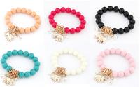 New Fashion Colorful Elephant Pendant Beads Bracelet Jewelry For Women High Quality,12pcs/lot