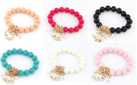 New Fashion Colorful Elephant Pendant Beads Bracelet Jewelry For Women High Quality,12pcs/lot