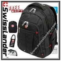 SwissLander,Swiss,men's backpack for laptops,notebook backpacks,computer back pack,bag for 15.6 inch notebooks w/ free gift