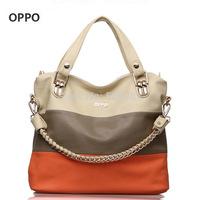 2014 fashion women's handbag color match designers handbags high quality shoulder bag for woman PU leather organizer tote sg234