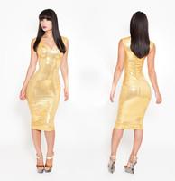 2014 Brazil Festival Sexy Golden Women Dress Fashion Party Dress