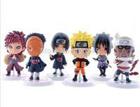 """Anime  Naruto Model  8CM PVC Action Figure 6pcs/set  Generation 3""""  Kakashi Minato Bee  classic toys T83"""