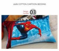 Spider man/ iron man pillow cover 100% cotton cartoon pillow case reactive printed cushion cover home textiles #15