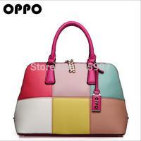 2014 fashion women's handbag color match designers OPPO handbags high quality shoulder bag for woman PU leather bag sg235