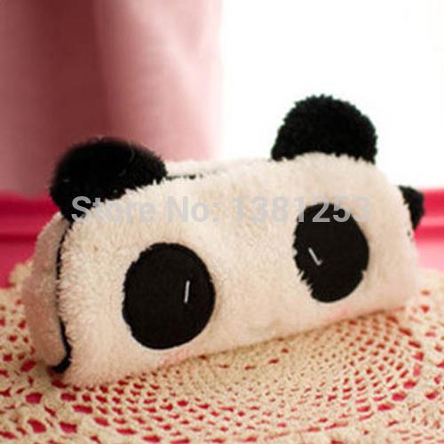 2013 New Cute Soft Plush Panda Pencil Pen Card Case Cosmetic Notebook Makeup Bag Pouch,5pcs/Lot Free Shipping kfg5y(China (Mainland))