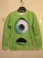 Women casual 3d E.T shark eye printed sweatshirt pullover free shipping