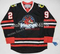 2007-08 Authentic Corey Crawford Jersey AHL ICE Hockey Rockford IceHogs Jerseys Game Worn Black - Customized IceHogs Jerseys