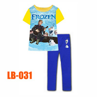 15 Oct Boys Frozen Friends Clothing Set Kids Autumn -Summer Pajamas Sets New 2014 Wholesale Children Cartoon Pyjamas LB-031