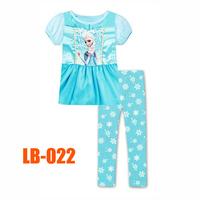 15 Oct Girls Elsa Princess Clothing Set Kids Autumn -Summer Pajamas Sets New 2014 Wholesale Children Frozen 2-7Y Pijamas LB-022