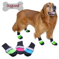 Free shipping! 4pcs/set Outdoor Waterproof Anti slip Skid Dog Boots Dog Shoes Pet Shoes
