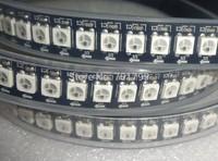 1M long 144leds/m WS2812B(5050 rgb led with WS2811 IC built-in) led pixel strip,DC5V,waterproof in silicon tube;BLACK PCB