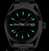 Free Shipping Fashion SKMEI Brand Luxury New Male Clock Luminous Hand Quartz Watches Men wristwatches with Auto date Calendar