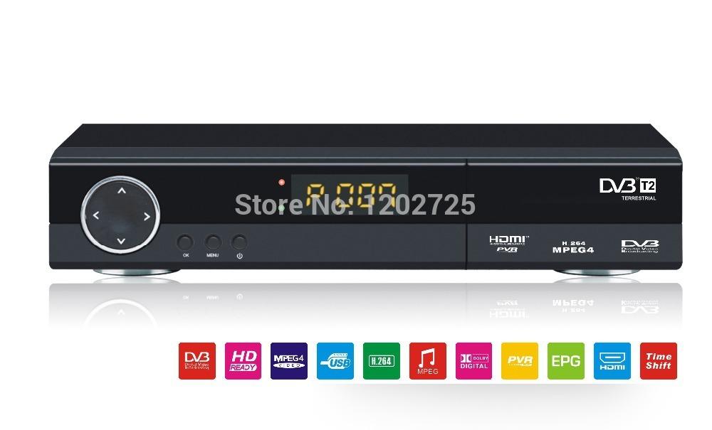 2pcs/lot HD1080P PVR Media Player Digital Terrestrial Receiver DVB-T2 Tuner Set-top Box(China (Mainland))