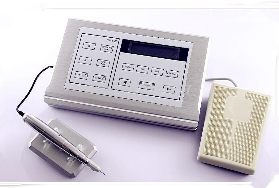 2014 New Rotary Permanent Makeup Eyebrow pen Tattoo Machine Kits DHL free shipping(China (Mainland))