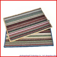 New Arrivals! Wholesale high quality non-slip mats in front of colored stripes, colored floor mats color random