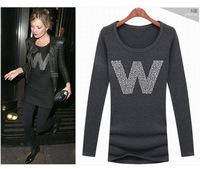 new 2014 long sleeve fashion women Slim casual shirt, vetement femme, ropa mujer, roupas, feminino, women clothing, tshirt dress