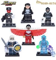 Decool 0169-0174 marvel Super Hero Electro Taskmaster Falcon Action Figure DIY Building Blocks Toys Compatible With Lego T85