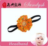 Beautiful Handmade Halloween Baby Girl Hair Accessory Flower Decorative Elastic Baby Hairbands