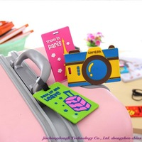 New Arrivals! Wholesale quality fashion essential travel soft rubber luggage tag, luggage tag randomly send