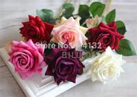 "HOT Velet Roses 50cm/19.7"" Length 30Pcs Artificial Single Rose for Wedding Flower Photograph Props Home Christmas Decorations"