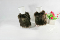 NEW lady's Boot Cuff Fluffy Soft Furry Faux Fur 20cm Leg Warmers free shipping