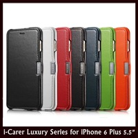 """i-Carer Luxury Series Side Open Genuine Leather Flip Leather Case for Apple iPhone 6 Plus 5.5"""" + Retail + Free Shipping"""