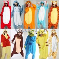 Promotion!!!New Adult Pajamas Christmas Costume Animal Cosplay Adults Onesies Pajamas Stitch Pyjamas Pikachu Costumes