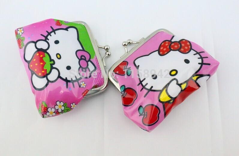 New fashion 30pcs/lot baby girls hello kitty kids wallet money bag party supplies(China (Mainland))