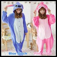 Cute Stitch Cartoon Unisex Adults Pajamas Adult Anime Cosplay Animal Onesie Pyjama S/M/L/XL