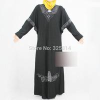 ITY Rhinestone And Beads Muslim Clothing For Women,Batwing Sleeve Islamic Abaya,Arabic Jilbabs,Pregnant Clothing Free Shipping