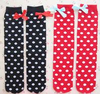 20pairs/lot Baby warm socks winter girl knee high socks kid bow hose boots sox 1-8 years Free Shipping