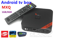 Newest MXQ Amlogic S805 Quad Core XBMC TV Box 1G RAM 8G ROM Android 4.4 OS H.265 Wifi LAN Miracast Airplay DLNA